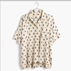 Madewell Academies blouse  floral weave sz large